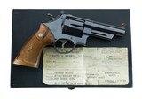 "Smith & Wesson Pre Model 29 .44 Magnum 4"" 5-Screw ORIGINAL SALES RECEIPT Military Shipment Feb 1957 ANIB"