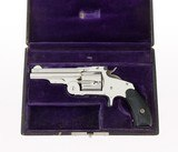 """INCREDIBLE Smith & Wesson 1st Model .38 Single Action Baby Russian 3 1/4"""" Nickel Alligator Leather Case 144 YEARS OLD & ANIB - 3 of 8"""