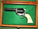 Master Engraved Colt Frontier Six Shooter 1881 Ivory Grips Cased 44-40 SAA 4 3/4 Inch Single Action Army