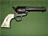 Engraved Colt SAA Black Powder Frame 4 3/4 Inch 38-40 Bullseye Ejector Single Action Army