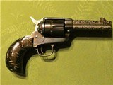 Scarce Engraved Colt SAA Bird's Head Grip .45 Single Action Army 4 Inch Barrel