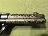 Scarce Engraved Colt SAA Bird's Head Grip .45 Single Action Army 4 Inch Barrel - 4 of 15