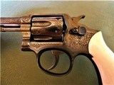 Cased Master Engraved S&W 5 Screw M&P with Ivory Grips .38 Pre Model 10 - 11 of 15