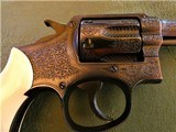 Cased Master Engraved S&W 5 Screw M&P with Ivory Grips .38 Pre Model 10 - 3 of 15