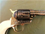 Cased Master Engraved Colt SAA 2nd Generation 1956 Ivory Grip .45 Single Action Army - 3 of 15