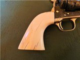 Cased Master Engraved Colt SAA 2nd Generation 1956 Ivory Grip .45 Single Action Army - 5 of 15