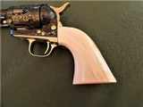 Cased Master Engraved Colt SAA 2nd Generation 1956 Ivory Grip .45 Single Action Army - 8 of 15