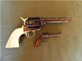 Cased Master Engraved Colt SAA 2nd Generation 1956 Ivory Grip .45 Single Action Army - 14 of 15