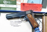 Colt 1911 .45 ACP Model 01911 Carbonia Blue WWI As New In Box with Everything! Mint!