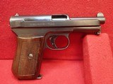 "Mauser M1934 7.65mm 3.4"" Barrel Semi Auto Pistol w/German Export Marks, Includes Magazine"