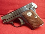 "Colt Vest Pocket Model 1908 Hammerless .25ACP 2"" Barrel Blued w/Walnut Grips 1927mfg - 5 of 17"