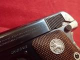 "Colt Vest Pocket Model 1908 Hammerless .25ACP 2"" Barrel Blued w/Walnut Grips 1927mfg - 7 of 17"