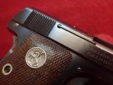 "Colt Vest Pocket Model 1908 Hammerless .25ACP 2"" Barrel Blued w/Walnut Grips 1927mfg - 3 of 17"