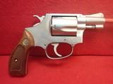 "Smith & Wesson Model 60 .38spl 2"" Stainless Steel J-Frame Revolver 1974mfg Collectors Grade"