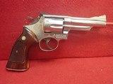 "Smith & Wesson 19-3 .357 Magnum 4"" Barrel Nickel Finish ""Comm. of Massachusetts"" 1975 Mfg."