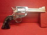 "Ruger Blackhawk .357 Magnum 4.5"" Barrel Nickel Finish Revolver 3-Screw Old Model 1969mfg"