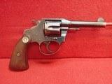 """Colt Police Positive Second Issue .38Colt 4"""" Barrel Blued Revolver 1928mfg"""