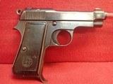 """Beretta Model 1934 .380ACP 3-3/8"""" Barrel Semi Auto Pistol 1942mfg WWII Italian Service pistol"""