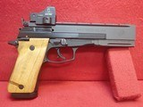"Beretta Model 87 Target .22LR 5.9"" Barrel Semi Automatic Target Pistol w/ Docter Red Dot Sight"