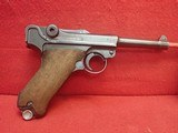 Mauser P-08 Luger 9mm Semi Automatic Pistol BYF 42 Code WWII German Service Pistol