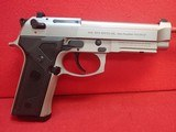 "Beretta 92FS Vertec Inox 9mm 4.7"" Barrel Stainless Steel Semi Automatic Pistol w/10rd Mag"