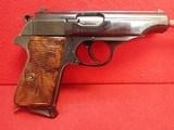 "Manurhin (Walther) Model PP 7.65mm (.32 ACP) 3-7/8"" Barrel Semi Auto Swedish Police Model, Made in France"
