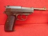"""Spreewerk (cyq) P.38 9mm 5"""" Barrel Semi Automatic German WWII Service Pistol 1942-45mfg"""