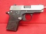 "Sig Sauer P238 .380ACP 2.75"" Barrel Semi Automatic Compact Carry Pistol w/ Diamond Plate Finish"