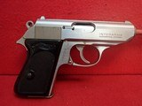 """Walther (Interarms) PPK .380ACP 3.3"""" Barrel Stainless Steel Made In USA Semi Automatic Pistol"""
