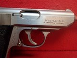 """Walther (Interarms) PPK .380ACP 3.3"""" Barrel Stainless Steel Made In USA Semi Automatic Pistol - 4 of 16"""