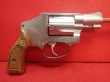 "Smith & Wesson 640 .38spl 2"" Barrel Stainless Steel J-Frame Revolver 1990mfg"