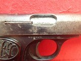 """FN Fabrique Nationale Browning Model 1910 .32ACP 3.5"""" Barrel Semi Automatic Pistol - 4 of 21"""