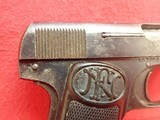 """FN Fabrique Nationale Browning Model 1910 .32ACP 3.5"""" Barrel Semi Automatic Pistol - 3 of 21"""