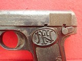 """FN Fabrique Nationale Browning Model 1910 .32ACP 3.5"""" Barrel Semi Automatic Pistol - 8 of 21"""