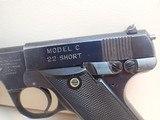"High Standard Model C .22 Short 4.5"" Barrel Blued Finish Semi Auto Pistol 1932-38mfg - 8 of 16"