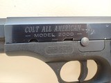 """Colt All American Model 2000 9mm 4-7/16"""" Barrel Double Action Semi Automatic Pistolw/15rd Mag 1992mfg - 9 of 20"""