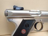 """Ruger Mark III Target .22LR 5.5"""" Barrel Stainless Steel Pistol w/Box, Two Mags - 3 of 18"""