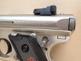 """Ruger Mark III Target .22LR 5.5"""" Barrel Stainless Steel Pistol w/Box, Two Mags - 8 of 18"""