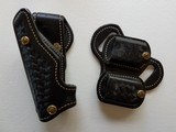 "Ernie Hill Speed Leather Fast-Trac Angle-Lok 5"" and double mag pouch"