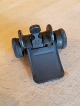 M1 Garand rear sight; type 3 - no locking bar; like new; SA WH; aperture is early NM 520.
