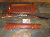 Winchester Model 94 John Wayne 32-40 w/leather scabbard aand gun rack - 1 of 15