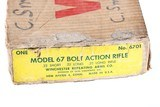 Winchester 67A Bolt Rifle .22 sllr Factroy Box - 3 of 15