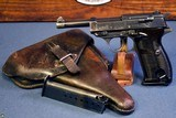 WALTHER ac41 P.38 PISTOL……. SCARCE 1st VARIATION……TWO MATCHING MAG FULL RIG!!!