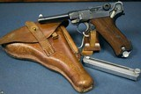 "WIEMAR POLICE DWM ALPHABET LUGER……1928 ""r"" BLOCK…..FULL RIG WITH 2 MATCHING HAENEL POLICE MAGS…..MINT!"