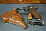 1940 MAUSER BANNER LUGER….POLICE EAGLE/L MARKED….2 MATCHING MAGS……….MINT CRISP FULL RIG!!!