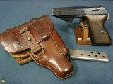 EARLY WAR EAGLE 655 MAUSER HSc PISTOL……..LUFTWAFFE ISSUED WITH ULTRA RARE CDC43 DROPPING HOLSTER….FANTASTIC LUFTWAFFE RIG!