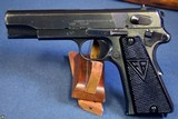 EARLY NAZI SLOTTED ViZ 35 RADOM PISTOL……… E BLOCK LATE SLOTTED…. MINT CRISP!