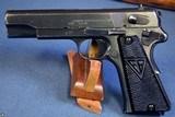 EARLY NAZI SLOTTED ViZ 35 RADOM PISTOL……… E BLOCK LATE SLOTTED…. MINT CRISP!