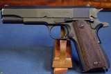US WW2 ITHACA 1911A1 PISTOL November, 1943 PRODUCTION…….MINT CRISP! - 1 of 11