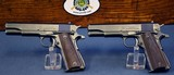 IMPORTANT & UNIQUE PAIR OF CONSECUTIVELY NUMBERED UNION SWITCH AND SIGNAL 1911A1 PISTOLS…..JUNE, 1943 PRODUCTION…..BOTH VERY SHARP!!!